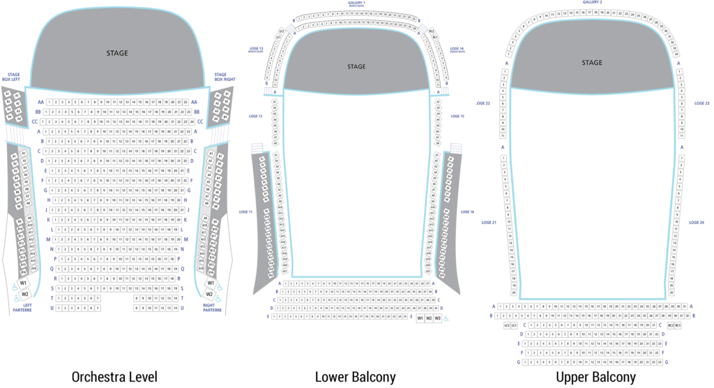 Koerner Hall Seating Map