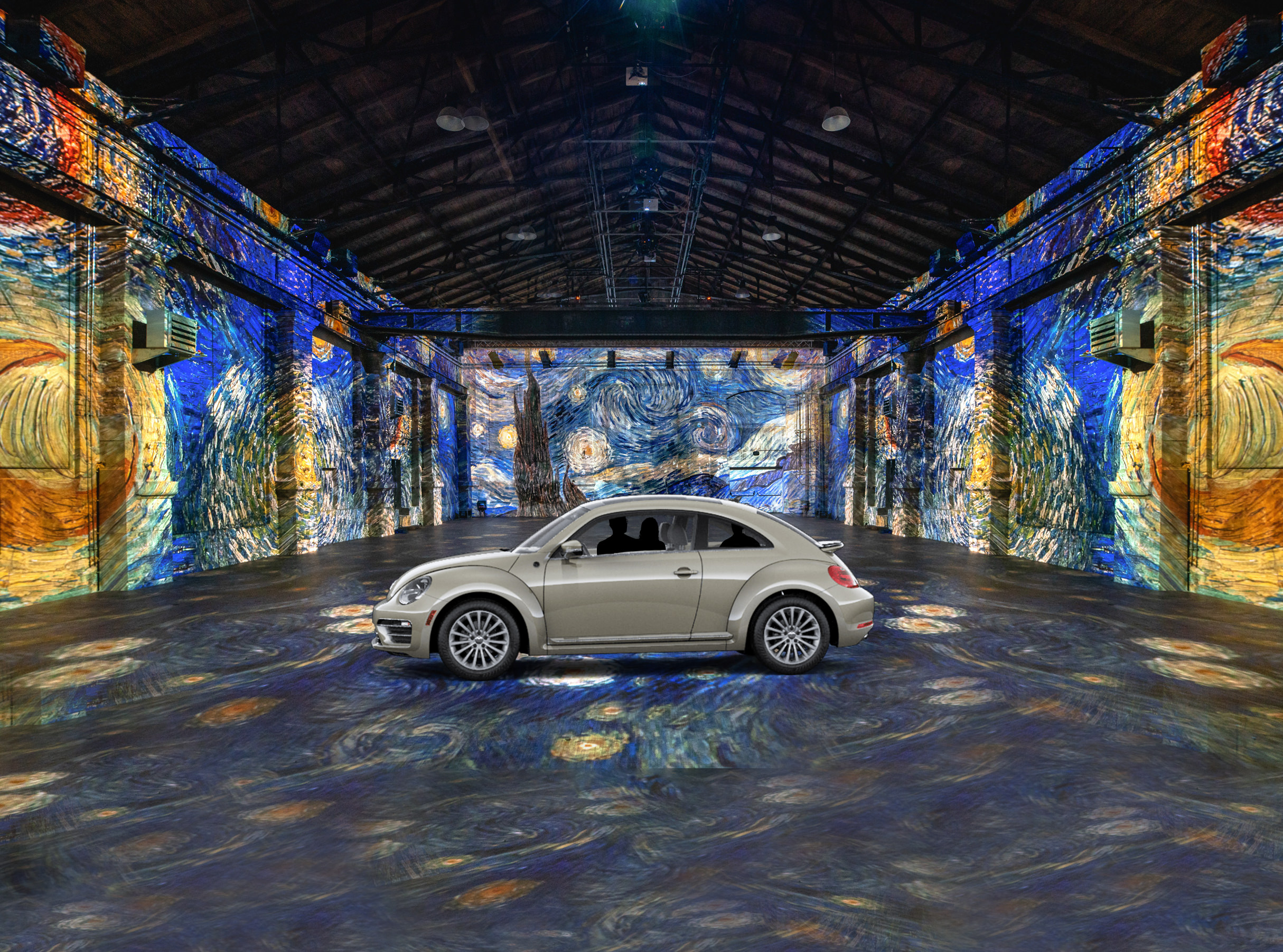 Van Gogh by Car! The World's First Drive-In Immersive Art Exhibit