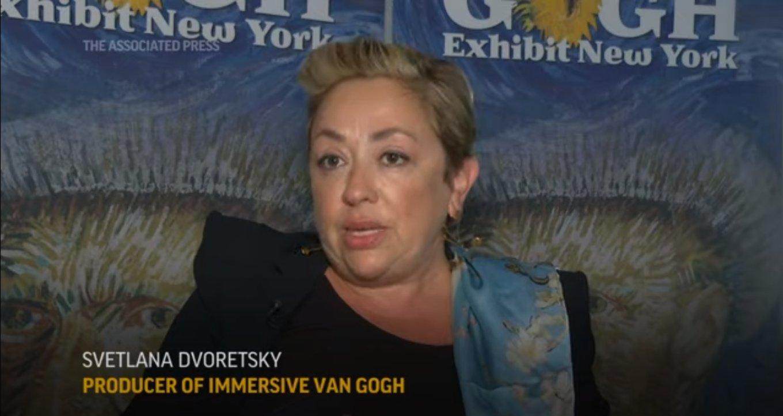 Svetlana Dvoretsky speaks about Immersive Van Gogh in New York City